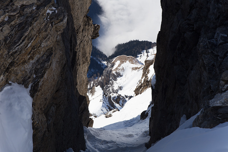 couloir in winter