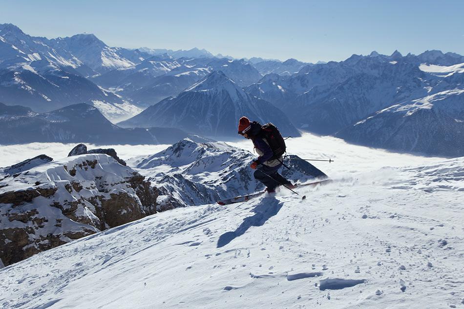 skiing dent de morcles