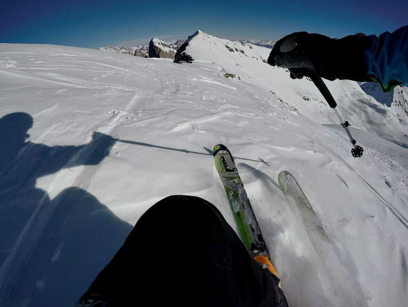 ski touring downhill