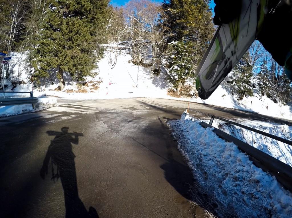 ski touring walk