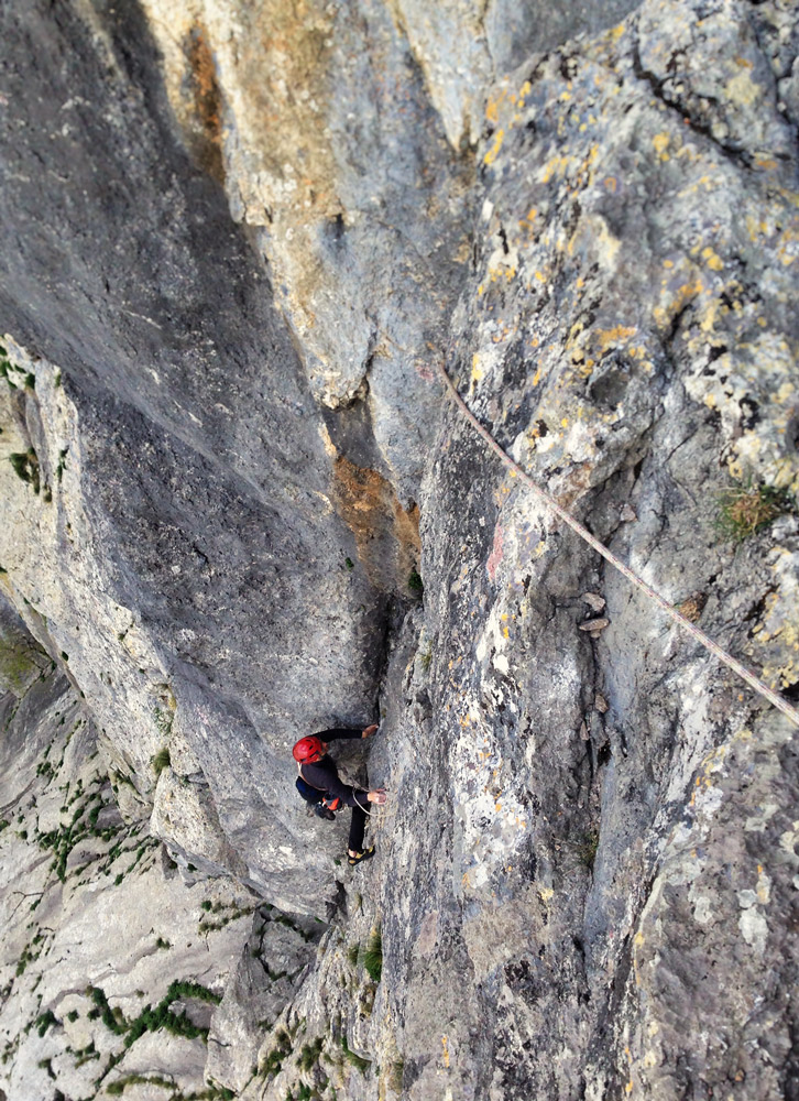 rock climbing route paklenica