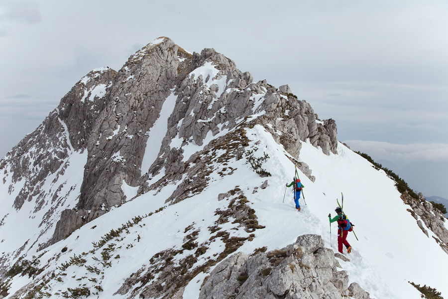 Ski touring viševnik slovenia