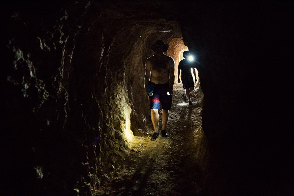 adventure exploration in croatian military tunnels