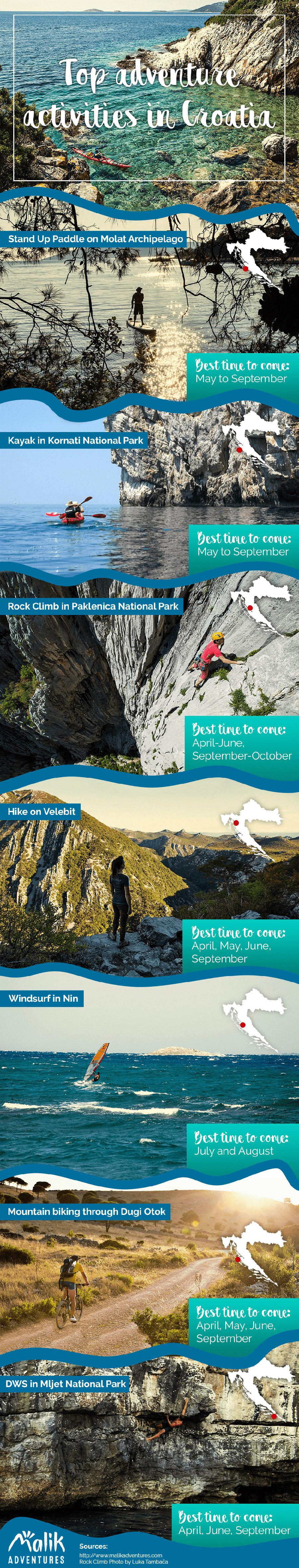 top adventure activity croatia