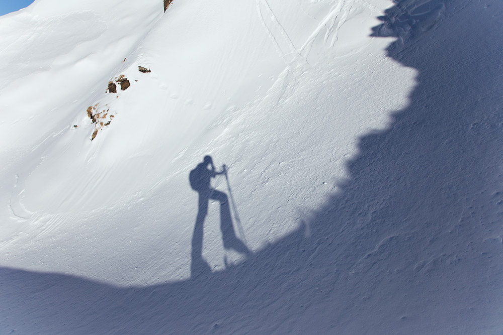 ski touring adventure in the alps