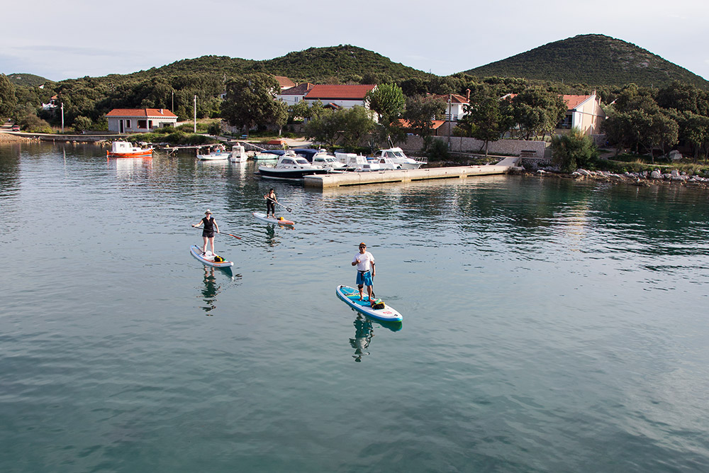 croatia activity holiday sup on island molat