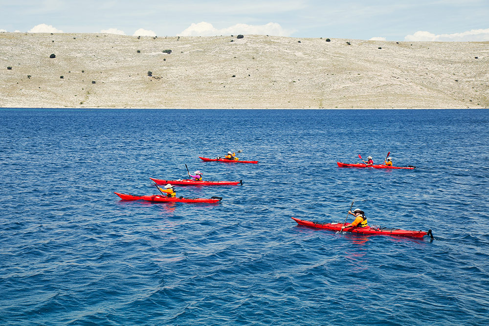 group sea kayaking trip in croatia