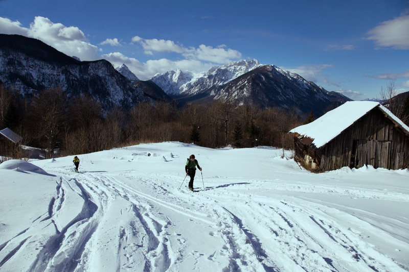 Winter mountain huts in Slovenia