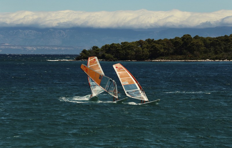 Windsurf adventure on island Molat