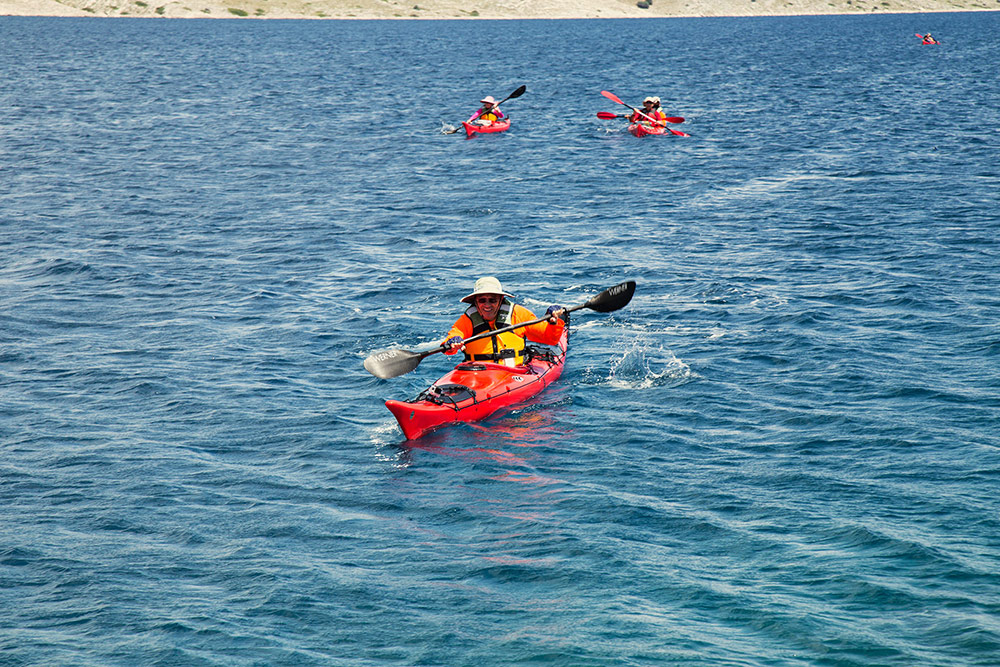 sea kayaking holiday and course - forward paddling