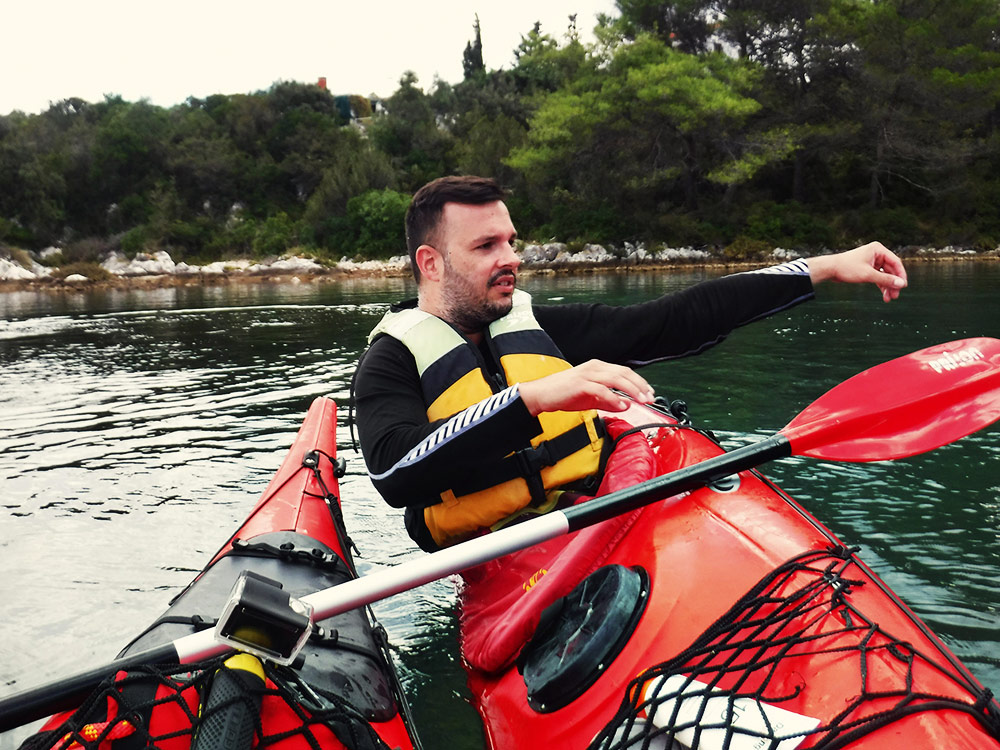 sea kayaking lessons in Croatia