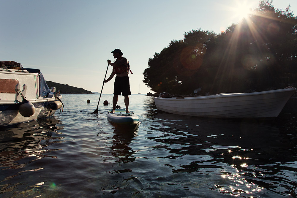 sup during family adventure holiday in croatia