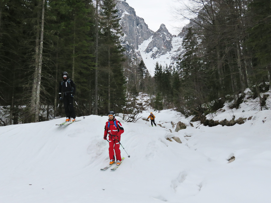 ski touring in spring