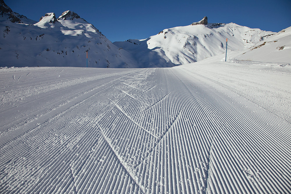 skiing alps