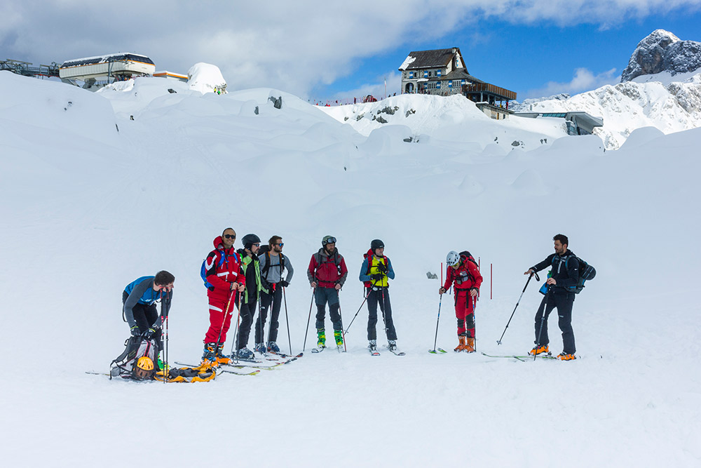 ski touring course trip
