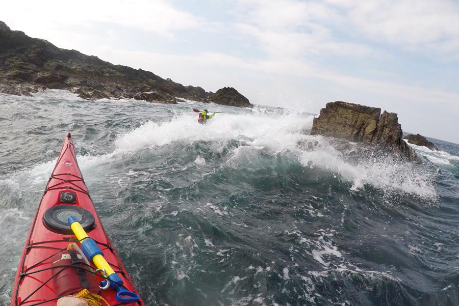 sea kayaking ireland wave