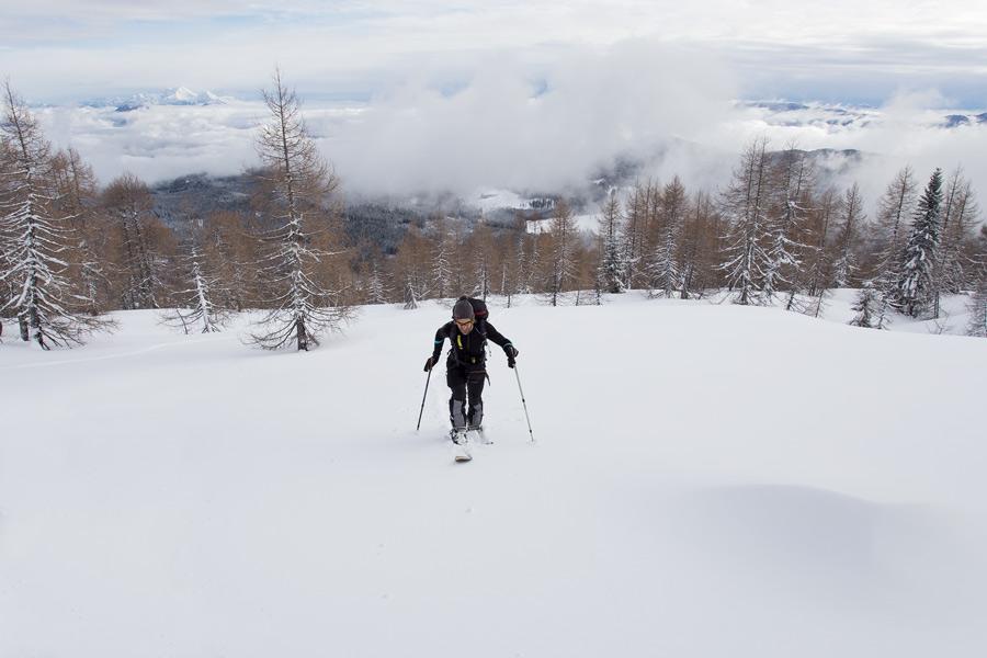 powder ski touring