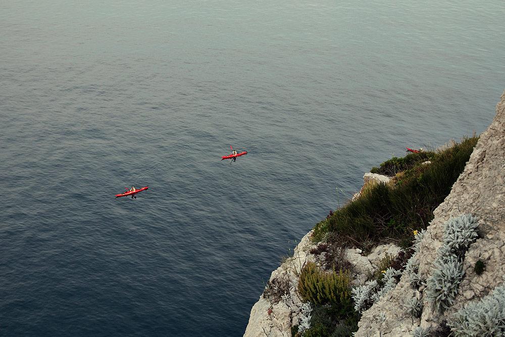 sea kayaking adventure in adriatic