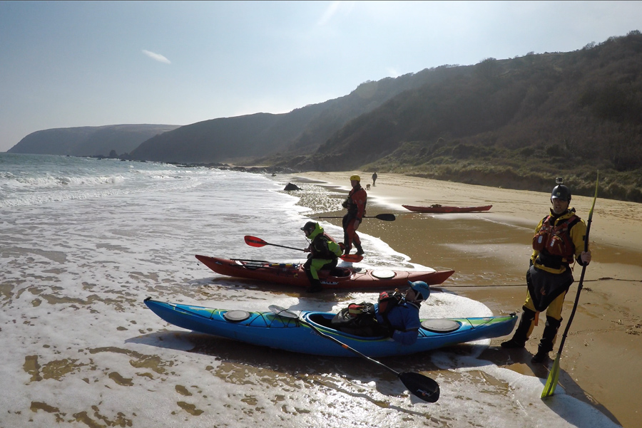 sea kayaking surf
