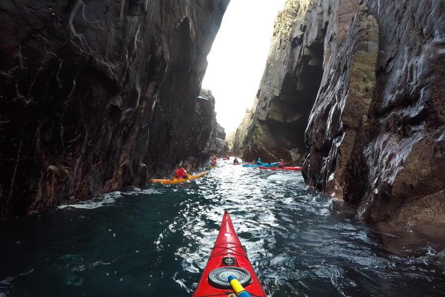 sea kayaking ireland cave