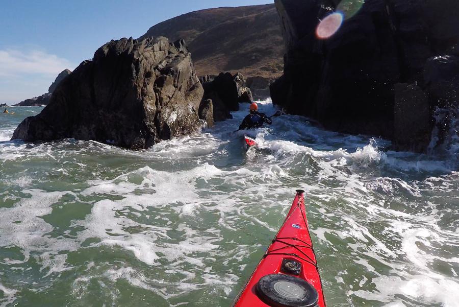 sea kayaking rock