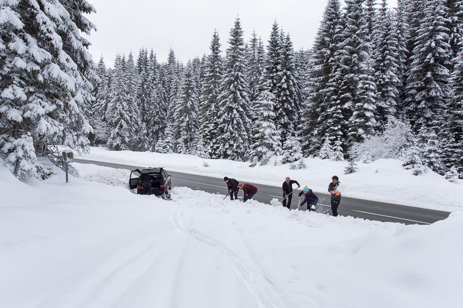 powder snow in slovenia