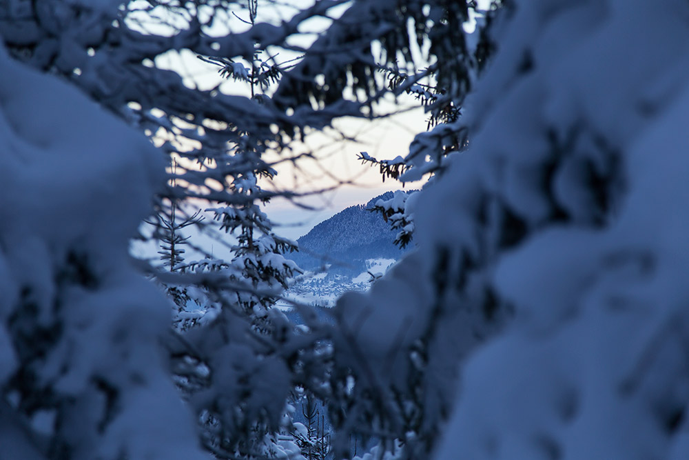 sunrise on ski touring adventure holiday