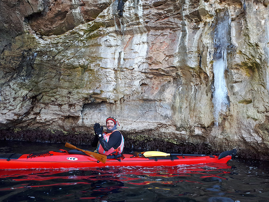 winter sea kayaking in croatia